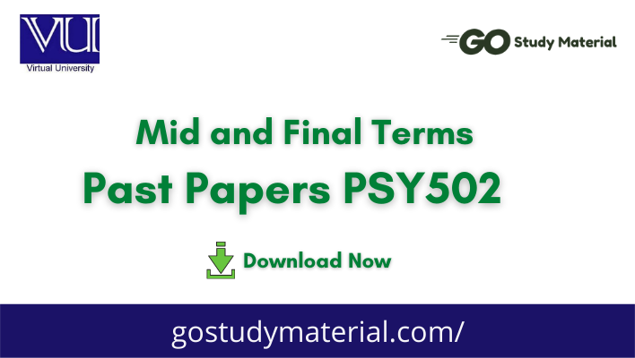 PSY502 Past Solved Papers   Midterm & Final term